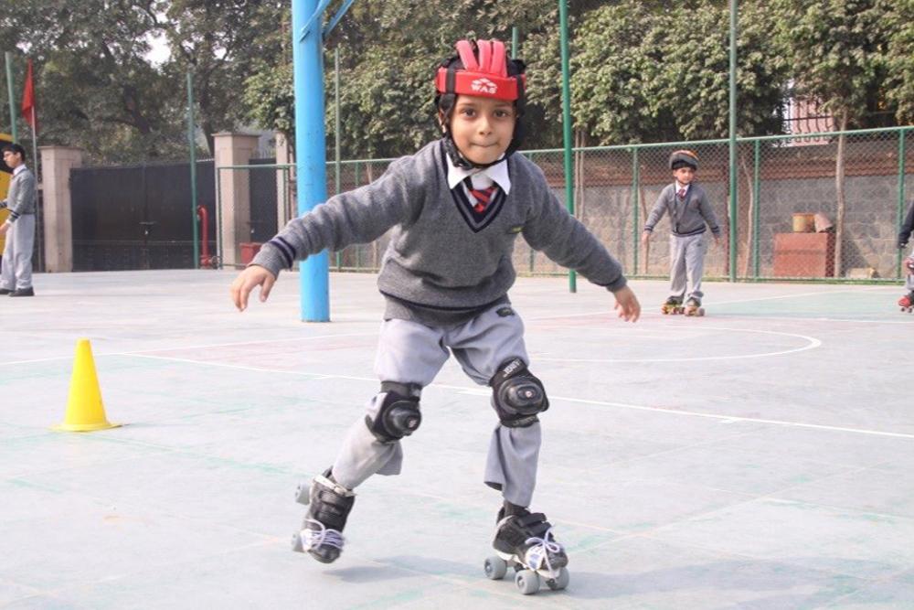 Students practicing skating