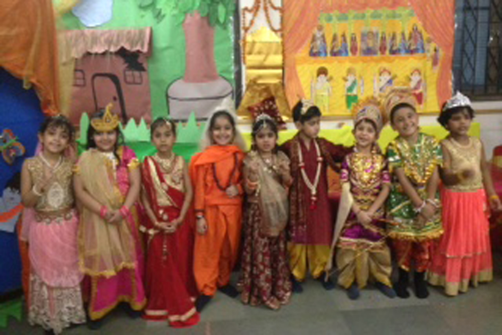 Ramayana actors posing for a picture