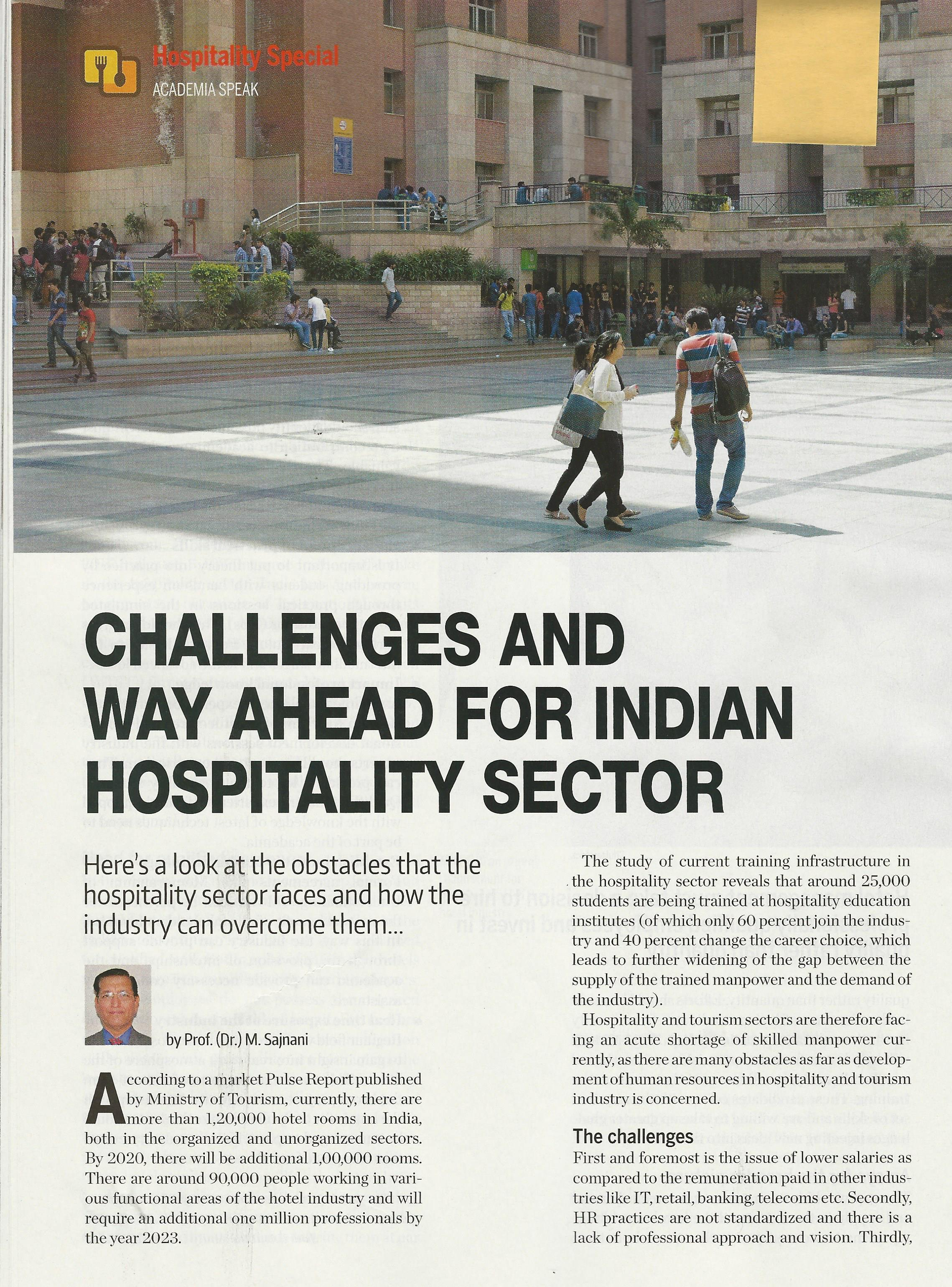 Challenges and way ahead for Indian Hospitality Sector