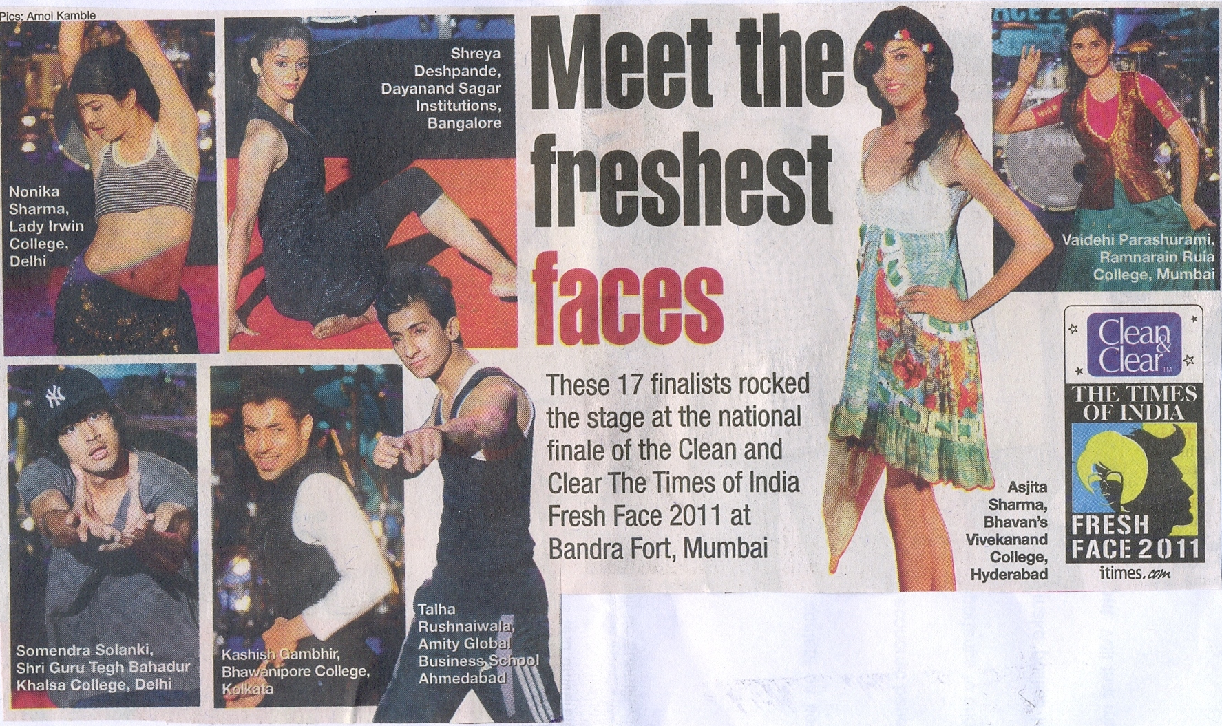Mee the Freshest faces - Times of India Fresh Face Contest Details